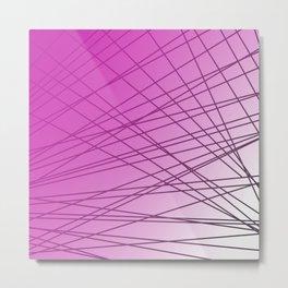 wild pink lines with elements Metal Print