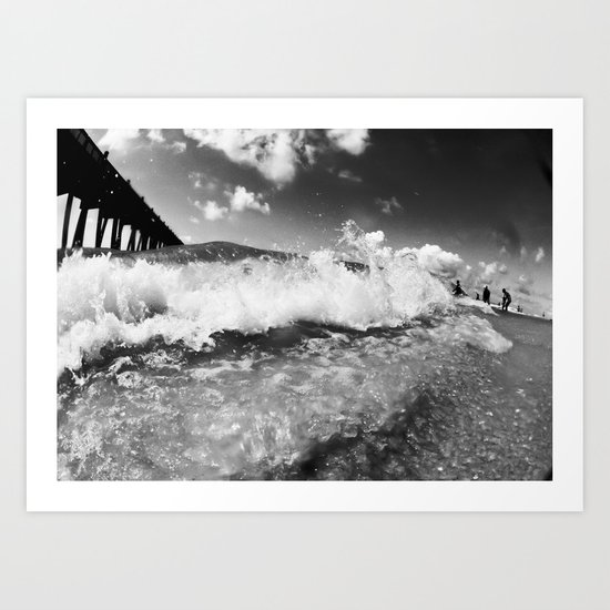 shore break Art Print