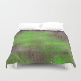 Green Color Fog Duvet Cover
