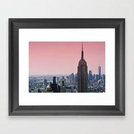 Gotham Blush - NYC Stories Framed Art Print