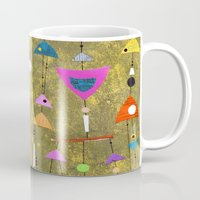 50s Mugs featuring Retro Fantasy 50s by Beatrice Roberts