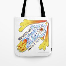 2015 Full of Promise, Fueled by Hope - Zentangle Illustration Tote Bag