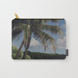 Hawaii Haze - Tropical Beach with Palm Trees Carry-All Pouch