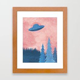 Unidentified Flying Object Framed Art Print