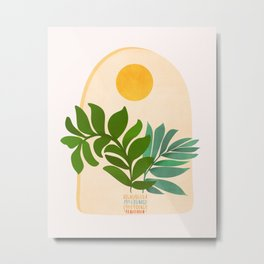 Boho Summer Scene / Window Series Metal Print