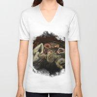helen green V-neck T-shirts featuring Helen Vaughan by Sandpaperdaisy