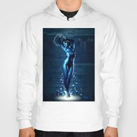hologram Hoodies featuring Cortana by Raenyras