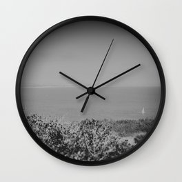 Lone Sailboat Wall Clock