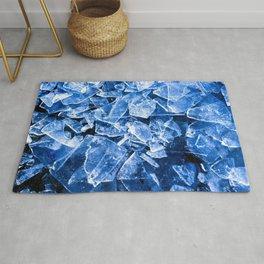 Blue Broken Ice for hot summer days Rug