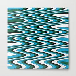 Blue green slur Metal Print