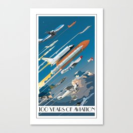 100 Years of Aviation Canvas Print