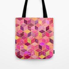 Pink Cubes Tote Bag