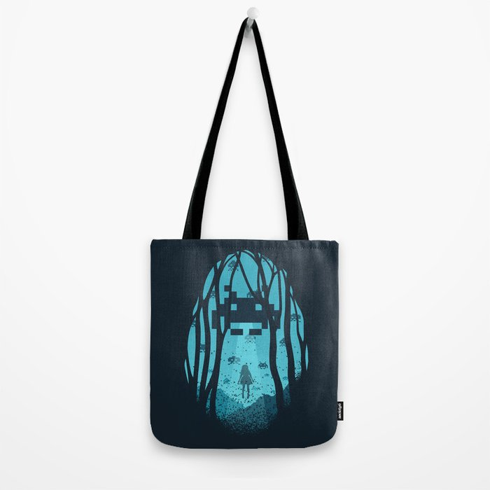 8 Bit Invasion Tote Bag