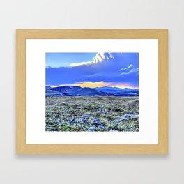 Blue Mountain Range Airbrush Artwork Framed Art Print