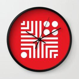 Geometric Calendar (May) Wall Clock