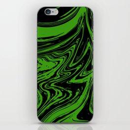 Green marble pattern iPhone Skin