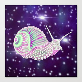 Psychedelic Space Snail Canvas Print