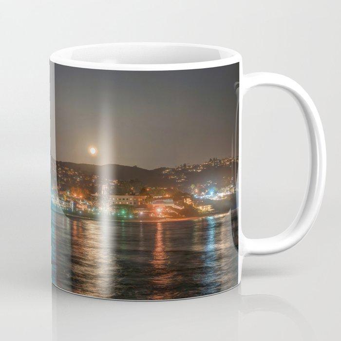 Moon Over Main Beach Coffee Mug