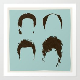Seinfeld Hair Square Art Print