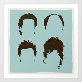 Seinfeld Hair Square Art Print