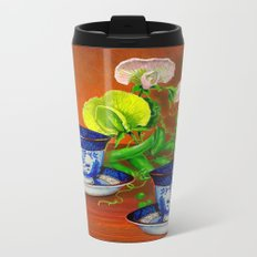 Teacups with Snap Peas Metal Travel Mug