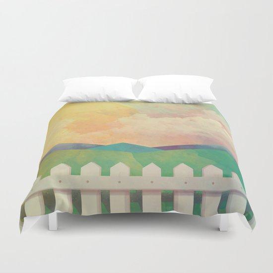 Watercolor Farm Duvet Cover