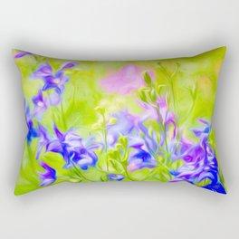 Delphinium Meadow Rectangular Pillow