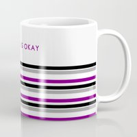 asexual Mugs featuring Asexual Is Okay by jess