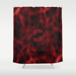 Red fantasy pattern Shower Curtain
