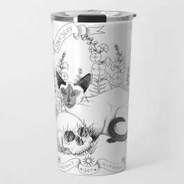 My Favorite Murder Elvis and Death Travel Mug