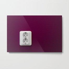 Electric Purple Metal Print
