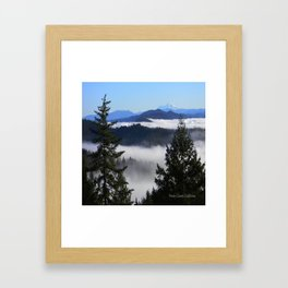 Bird's eye view of Mount Lassen.... Framed Art Print