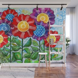 Happiest Flowers Wall Mural