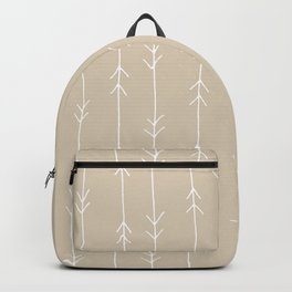 Arrow Pattern: Beige Backpack