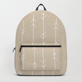 Arrow Pattern: Beige Backpack
