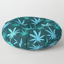 Marijuana Teal Weed Floor Pillow