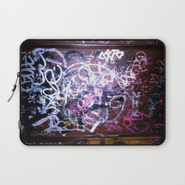 Bathroom Graffiti II Laptop Sleeve