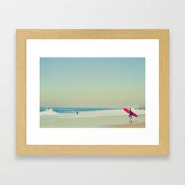 Red Long Board Framed Art Print