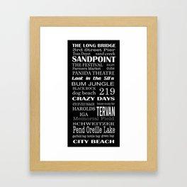 sandpoint, idaho Framed Art Print