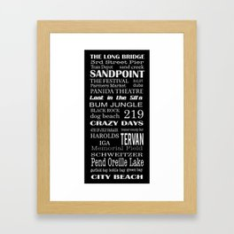 sandpoint, idaho Framed Art Print