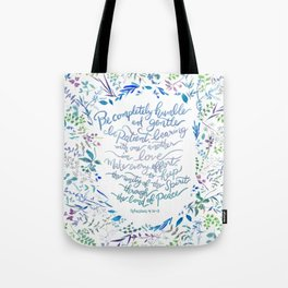 Be Humble & Gentle - Ephesians 4:2-3 Tote Bag