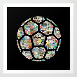Dark Philately Soccer Ball Art Print