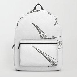 Atlantic Blue Marlin Doodle Backpack