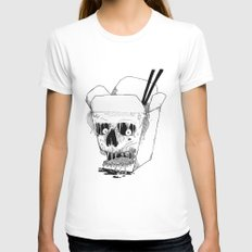 Monster Food: Takeout Womens Fitted Tee White MEDIUM