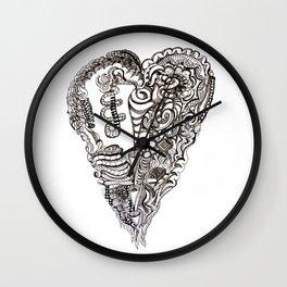 Dark Heart Wall Clock