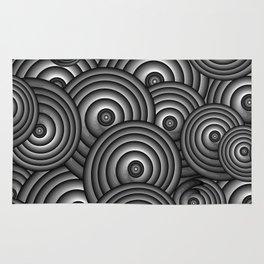 Charcoal Swirls Rug