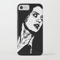 rocky horror picture show iPhone & iPod Cases featuring Magenta (Rocky Horror Picture Show) by Blake Lee Ferguson