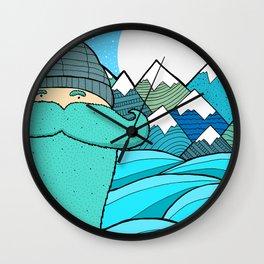 Blue Beard Wall Clock