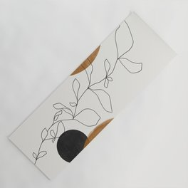 Abstract Plant Yoga Mat