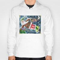 santa Hoodies featuring Santa by Shelley Ylst Art